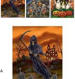 Creepy Halloween Raamsticker 3D 25x31cm
