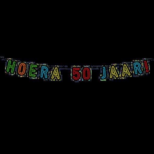 Neon Slinger Hoera 50 Jaar