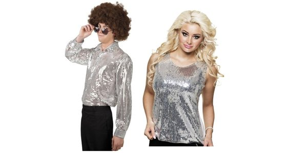 Zilveren kleding