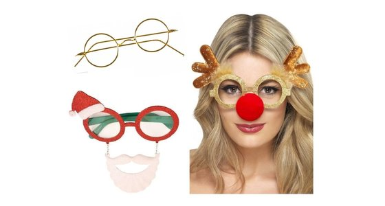 Kerstman - Rendier bril