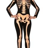 Skeleton Jumpsuit Halloween Dames