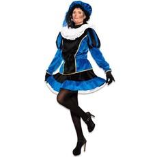 Pietjurkje Fluweel Blauw Elvira Luxe
