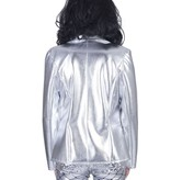 Zilveren disco colbert dames