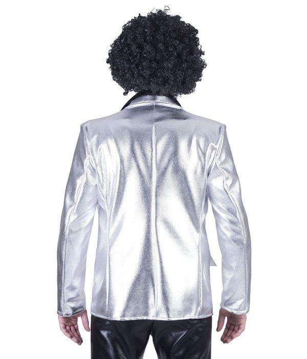 Disco colbert zilver man