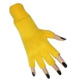 Vingerloze handschoenen geel