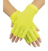 Vingerloze handschoenen neon geel