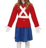 Engelse Soldaat Kostuum Meisje