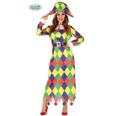 Gekleurde Harlekijn jurk dames