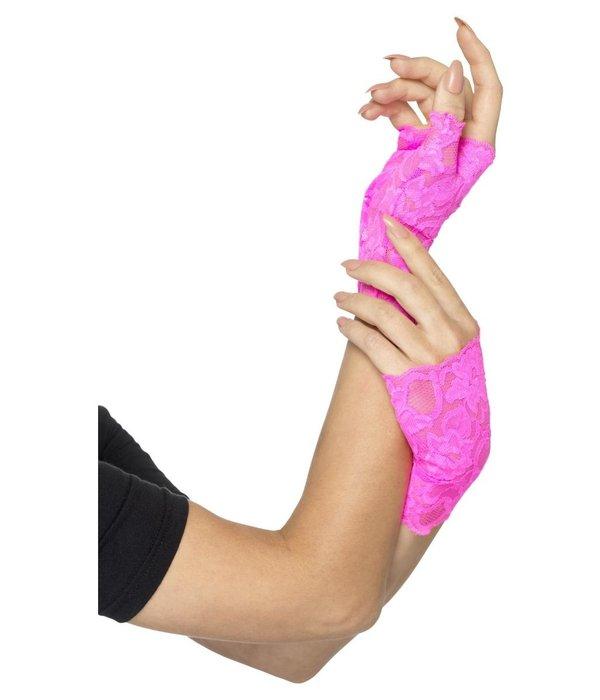 Handschoenen Neon Roze Kant