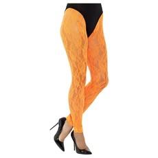 Legging Neon Oranje Kant