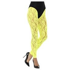 Legging Neon Geel Kant