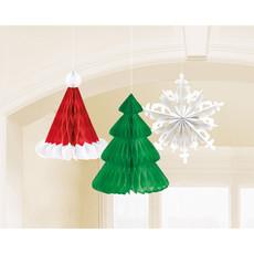 Honeycomb Set Kerstboom - 3 Stuks