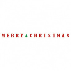 Letter Slinger Merry Christmas Rood