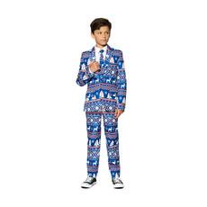 Blauwe Noordpool Kerst kostuum kind
