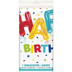 Tafelkleed Happy Birthday Ballon Print