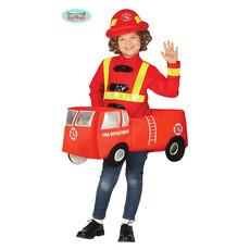 Brandweer Kostuum Kind Met Brandweerauto