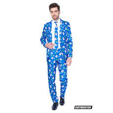 Winter Christmas Blue Snowman Kostuum
