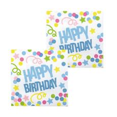 Servetten Happy Birthday Confetti Print - 12 Stuks