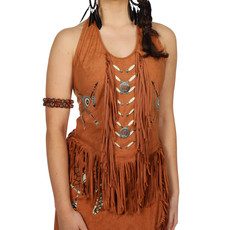 Western Shirt Dames Beige