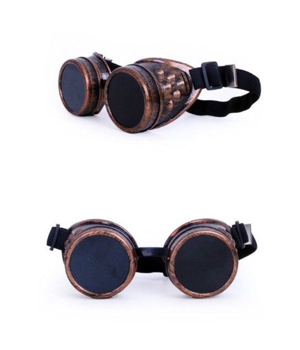 Steampunk bril koperlook