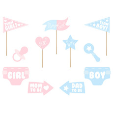 Photo Booth Props Gender Reveal Party - 11 Stuks