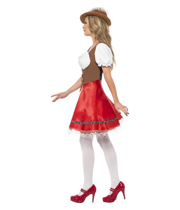 Oktoberfest jurk vrouw rood