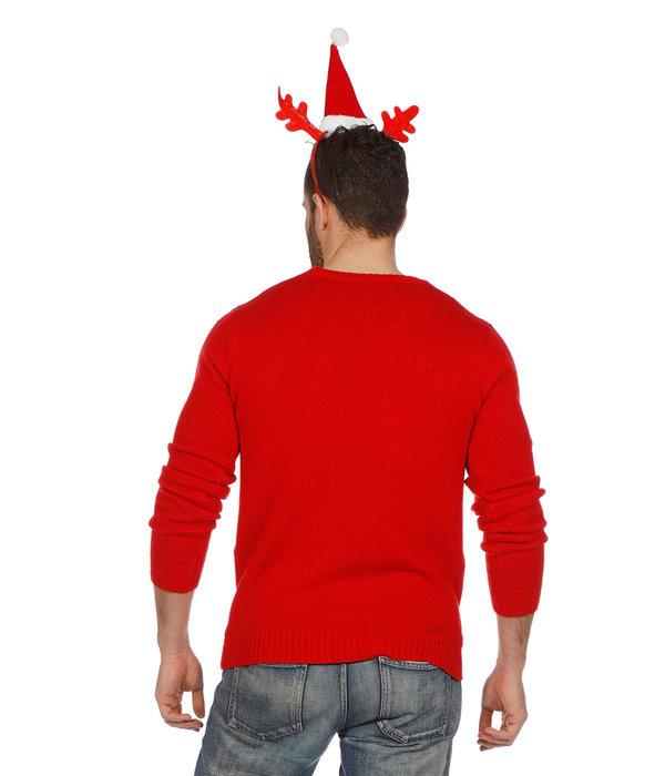 Foute Kersttrui Rood Met Rendier
