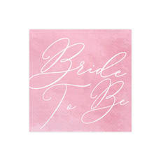 Bride To Be Servetten Pink - 20 stuks