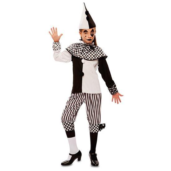Harlekijn Kostuum Meisje Pien Zwart/Wit