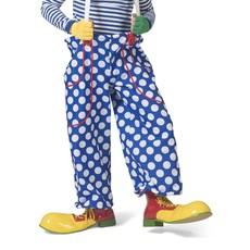 Clownsbroek Blauw/Wit Gestippeld