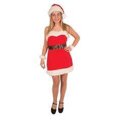 Kostuum kerstvrouw 4-delig