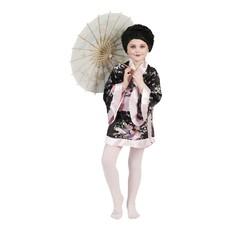 Japanse Kimono Zwart/Roze Meisje