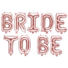 Folie Ballon Bride to be, 340x35cm rose goud