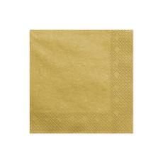 Metallic Gouden Servetten 20 stuks