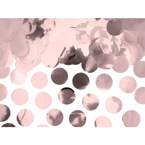 Confetti rond folie rose goud 15gr