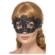 Kanten Oogmasker Zwart Bloemen