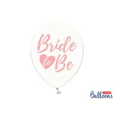 Transparante ballonnen Bride To Be roze (6st)