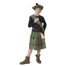Schots Highlander Kostuum Groen Kind