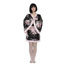Japanse Kimono Zwart/Roze Dames Kiwi
