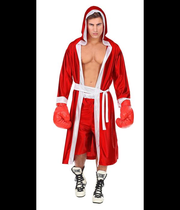 Bokser kostuum rood
