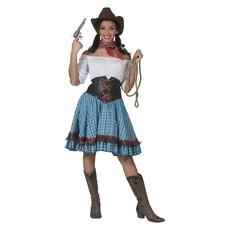 Cowgirl Jurk Abby Blauw