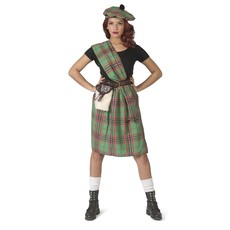 Schotse Highlander Kostuum Dames Groen