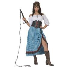 Cowgirl Jurk Blauw Lang
