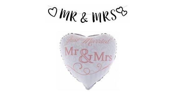 Mr & Mrs decoratie