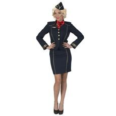 Stewardess Kostuum Fiona Donkerblauw