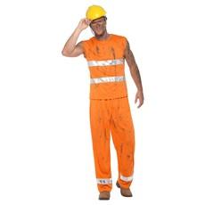 Bouwvakker Kostuum Oranje