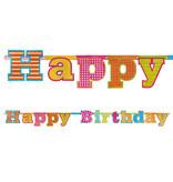 LetterBanner Happy Birthday Holografisch
