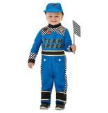 Race Kostuum Peuter Blauw