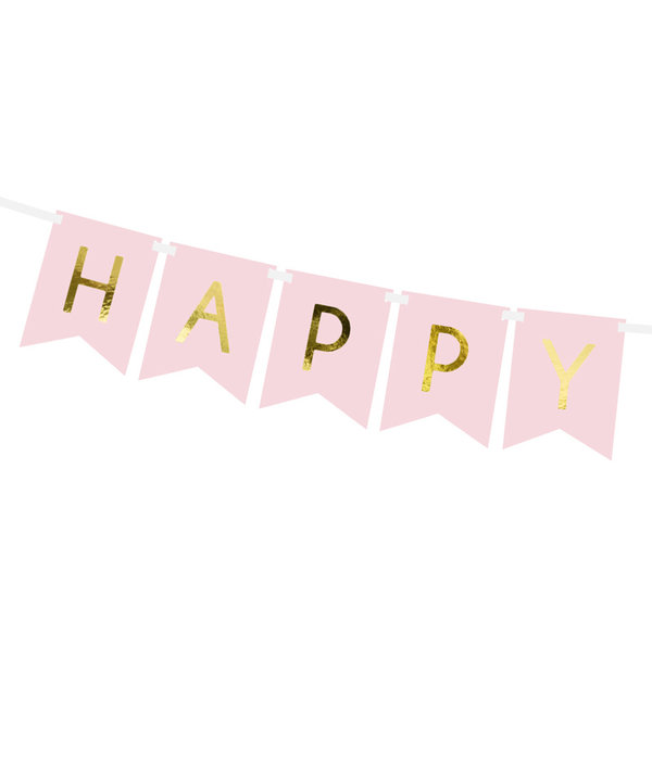 Letterslinger Happy Birthday Lichtroze