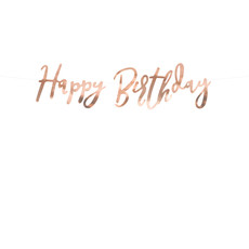 Letterslinger Happy Birthday Rose Goud 16x62cm